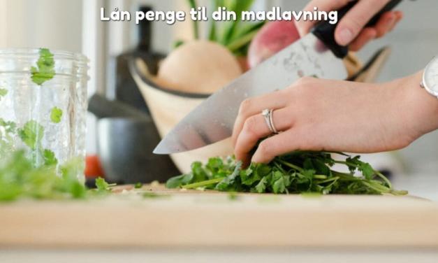 Lån penge til din madlavning