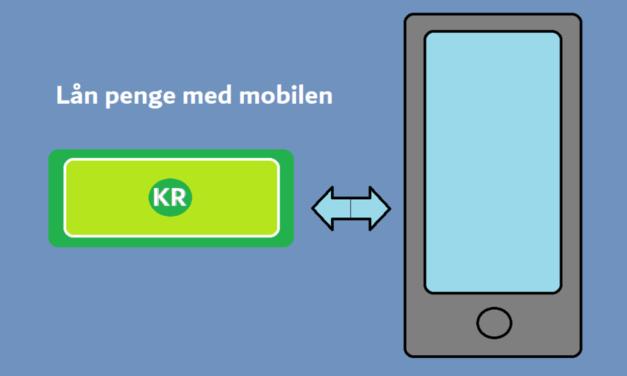 Lån penge med mobilen